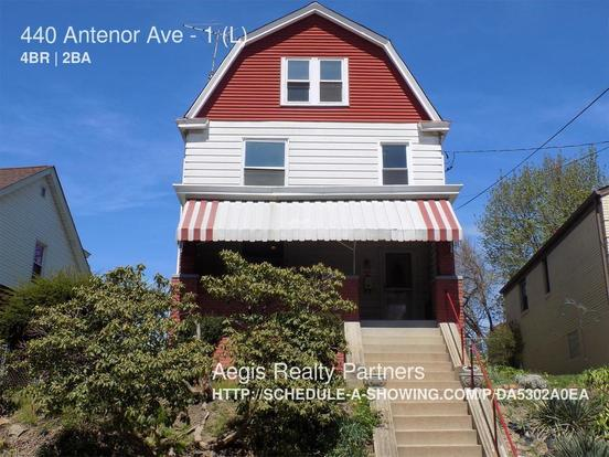 4 Bedrooms 1 Bathroom House for rent at 440 Antenor Ave in Pittsburgh, PA