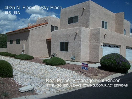 3 Bedrooms 3 Bathrooms House for rent at 4025 N. Flaming Sky Place in Tucson, AZ