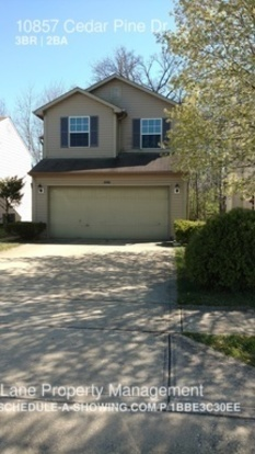 3 Bedrooms 2 Bathrooms House for rent at 10857 Cedar Pine Dr in Indianapolis, IN