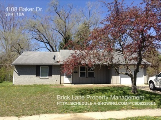 3 Bedrooms 1 Bathroom House for rent at 4108 Baker Dr. in Indianapolis, IN