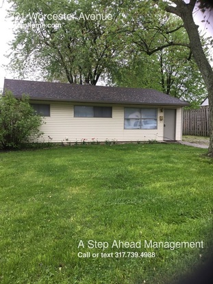 3 Bedrooms 1 Bathroom House for rent at 731 Worcester Avenue in Indianapolis, IN