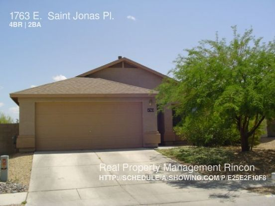 4 Bedrooms 2 Bathrooms House for rent at 1763 E. Saint Jonas Pl. in Tucson, AZ