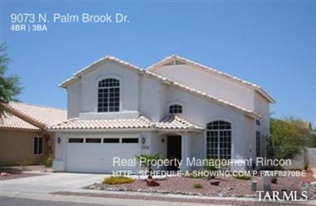 4 Bedrooms 2 Bathrooms House for rent at 9073 N. Palm Brook Dr. in Tucson, AZ