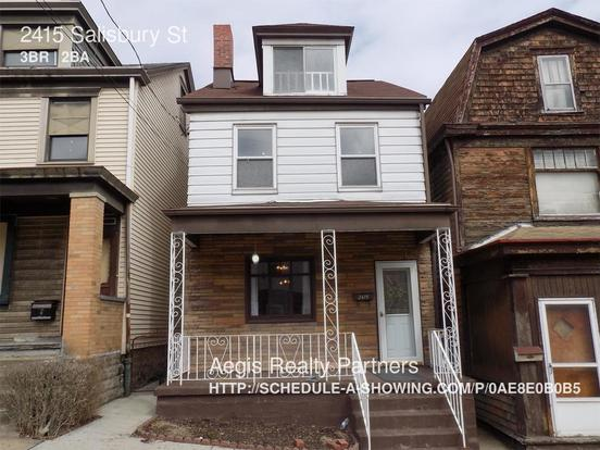 3 Bedrooms 1 Bathroom House for rent at 2415 Salisbury St in Pittsburgh, PA