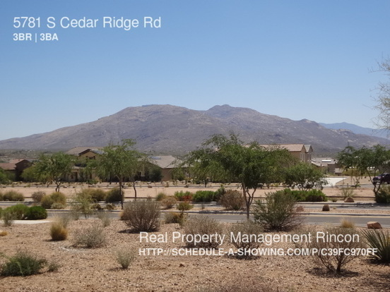 3 Bedrooms 2 Bathrooms House for rent at 5781 S Cedar Ridge Rd in Tucson, AZ