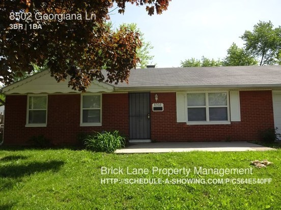 3 Bedrooms 1 Bathroom House for rent at 8502 Georgiana Lane in Indianapolis, IN