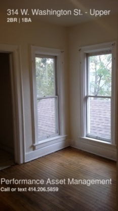 2 Bedrooms 1 Bathroom House for rent at 314 W. Washington St. in Milwaukee, WI