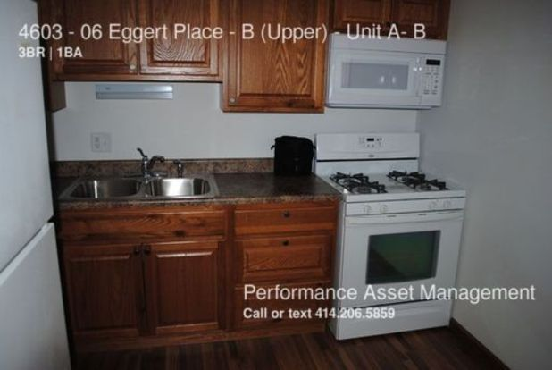 3 Bedrooms 1 Bathroom House for rent at 4603 06 Eggert Place B (upper) in Milwaukee, WI