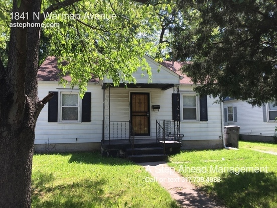2 Bedrooms 1 Bathroom House for rent at 1841 N Warman Avenue in Indianapolis, IN