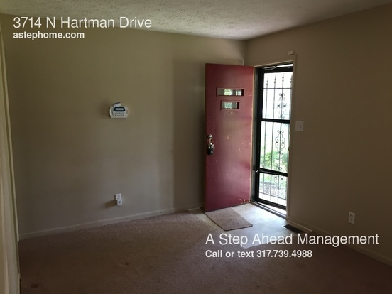 3 Bedrooms 1 Bathroom House for rent at 3714 N Hartman Drive in Indianapolis, IN