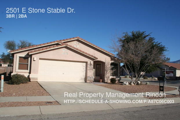 3 Bedrooms 2 Bathrooms House for rent at 2501 E Stone Stable Dr. in Tucson, AZ