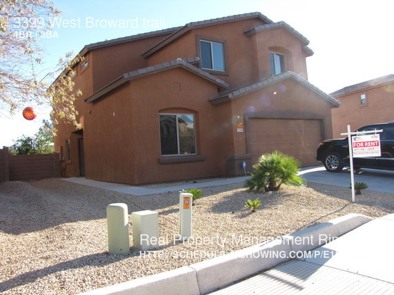 4 Bedrooms 2 Bathrooms House for rent at 3399 West Broward Trail in Tucson, AZ