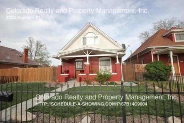 3 Bedrooms 2 Bathrooms House for rent at 3324 Franklin St. in Denver, CO