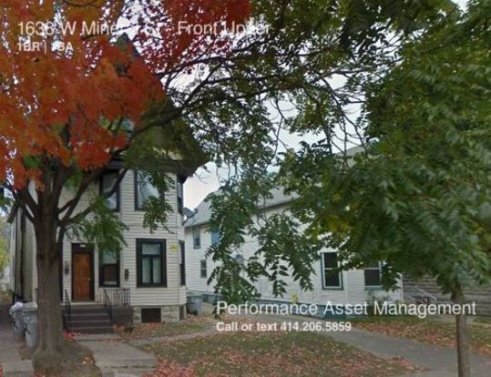 1 Bedroom 1 Bathroom House for rent at 1636 W Mineral St in Milwaukee, WI