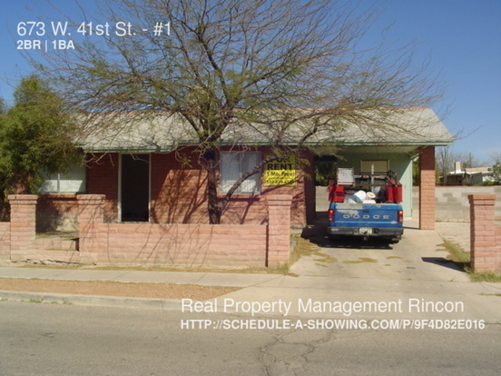 2 Bedrooms 1 Bathroom House for rent at 673 W. 41st St. in Tucson, AZ
