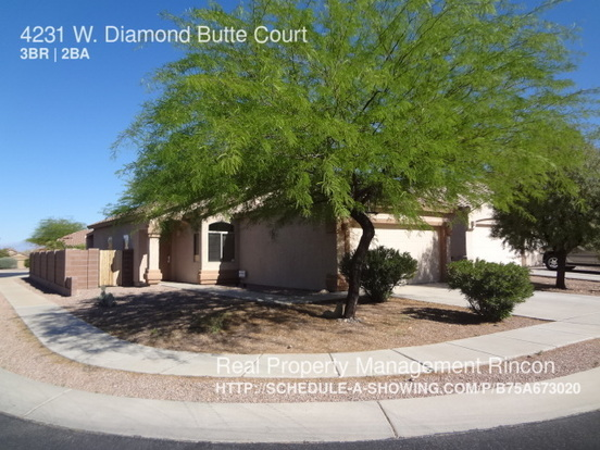 3 Bedrooms 2 Bathrooms House for rent at 4231 W. Diamond Butte Court in Tucson, AZ