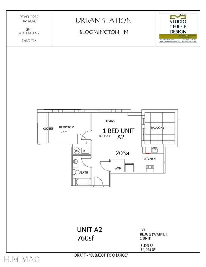 1 Bedroom 1 Bathroom Apartment for rent at 405 S. Walnut Street in Bloomington, IN