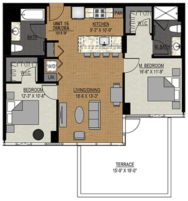 2 Bedrooms 2 Bathrooms Apartment for rent at Halsted Flats in Chicago, IL