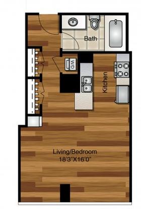 Studio 1 Bathroom Apartment for rent at K2 Apartments in Chicago, IL