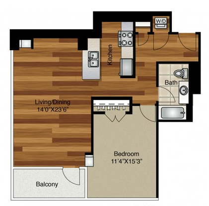 1 Bedroom 1 Bathroom Apartment for rent at K2 Apartments in Chicago, IL