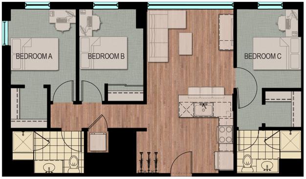3 Bedroom Apartments Madison Wi The Tuscany On Pleasant View 310 Samuel Drive 1 U0026 2
