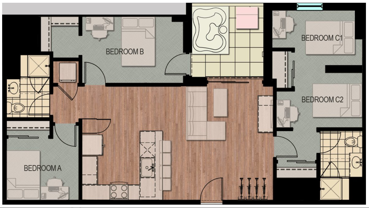 3 Bedrooms 2 Bathrooms Apartment for rent at Hub Madison in Madison, WI