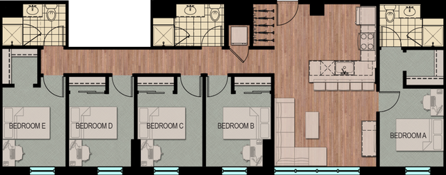 5 Bedrooms 3 Bathrooms Apartment for rent at Hub Madison in Madison, WI