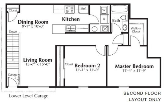 2 Bedrooms 1 Bathroom Apartment for rent at The Residences At Towne Center in Columbus, OH