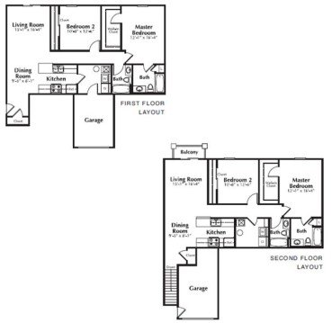 2 Bedrooms 2 Bathrooms Apartment for rent at The Residences At Towne Center in Columbus, OH