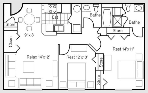 2 Bedrooms 2 Bathrooms Apartment for rent at Residences At Eastpointe Ridge in Columbus, OH