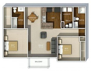2 Bedrooms 2 Bathrooms Apartment for rent at Hudson Square Apartments in Columbus, OH