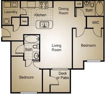 2 Bedrooms 2 Bathrooms Apartment for rent at Avalon Apartment Homes in Wilmington, NC