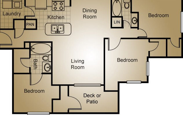 3 Bedrooms 2 Bathrooms Apartment for rent at Avalon Apartment Homes in Wilmington, NC