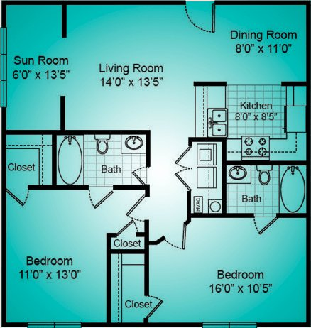2 Bedrooms 2 Bathrooms Apartment for rent at The Reserve At Forest Hills in Wilmington, NC