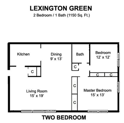 2 Bedrooms 1 Bathroom Apartment for rent at Lexington Green Apartments in Madison, WI
