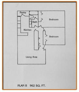 2 Bedrooms 1 Bathroom Apartment for rent at Desert Ridge Apartments in El Paso, TEXAS
