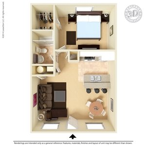 1 Bedroom 1 Bathroom Apartment for rent at Ashton Parke in El Paso, TX