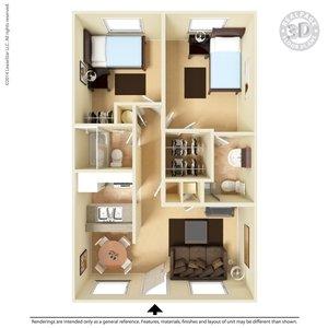 2 Bedrooms 2 Bathrooms Apartment for rent at Ashton Parke in El Paso, TX