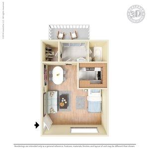 Studio 1 Bathroom Apartment for rent at La Estancia Apartment Homes in El Paso, TX