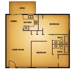 2 Bedrooms 2 Bathrooms Apartment for rent at La Estancia Apartment Homes in El Paso, TX