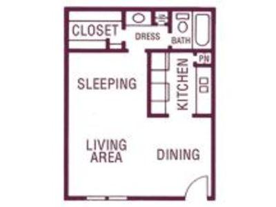 Studio 1 Bathroom Apartment for rent at Celina Plaza Apartments in El Paso, TX