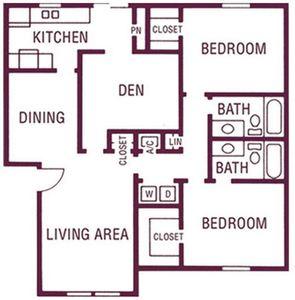 2 Bedrooms 2 Bathrooms Apartment for rent at Celina Plaza Apartments in El Paso, TX