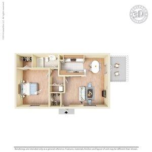 1 Bedroom 1 Bathroom Apartment for rent at La Plaza Apartments in El Paso, TX