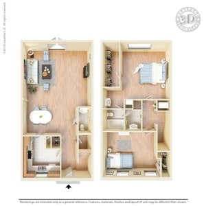2 Bedrooms 1 Bathroom Apartment for rent at La Plaza Apartments in El Paso, TX