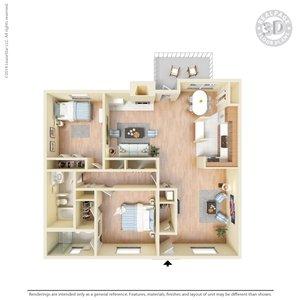 2 Bedrooms 2 Bathrooms Apartment for rent at La Plaza Apartments in El Paso, TX