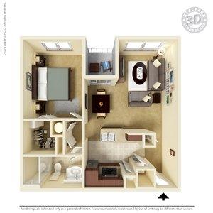 1 Bedroom 1 Bathroom Apartment for rent at The Venue At Montecillo in El Paso, TX