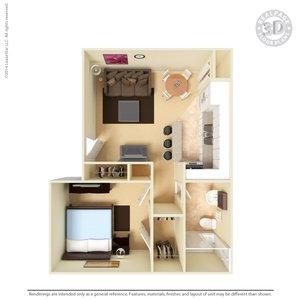 1 Bedroom 1 Bathroom Apartment for rent at Southview Apartments in El Paso, TX
