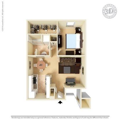 1 Bedroom 1 Bathroom Apartment for rent at San Miguel Apartments in El Paso, TX