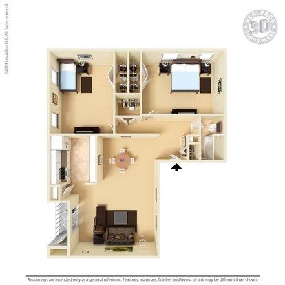 2 Bedrooms 1 Bathroom Apartment for rent at San Miguel Apartments in El Paso, TX