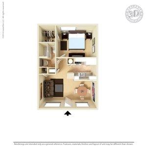 1 Bedroom 1 Bathroom Apartment for rent at San Pedro Apartments in El Paso, TX